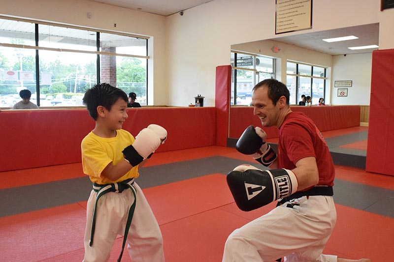 Karate Kids - Fun learning how to spar with  Sensei Vladimir